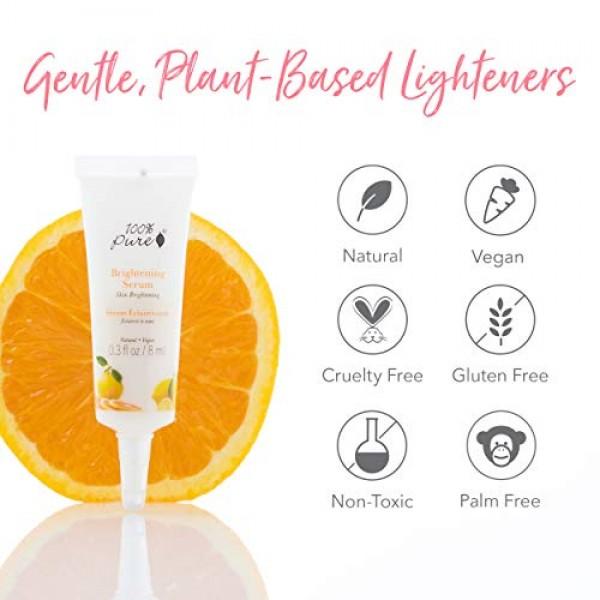 100% PURE Brightening Serum, Natural Skin Brightening Serum, For ...