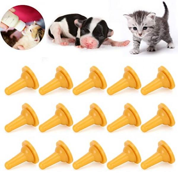 15Pcs Kitten Nipples for Nursing Feeding‑Bottle Nipple Pet Cat Do...