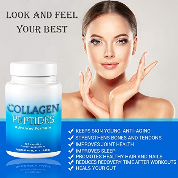 2 for 1 Promo Research Labs 240 Collagen Pills - 6000 mg. Grass F...