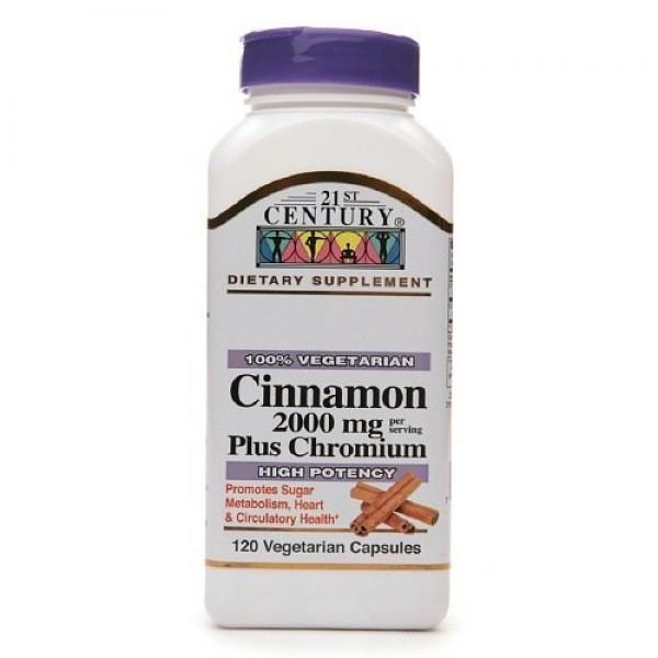 21st Century Cinnamon 2000 mg Plus Chromium, Veggie Capsules 120 ...