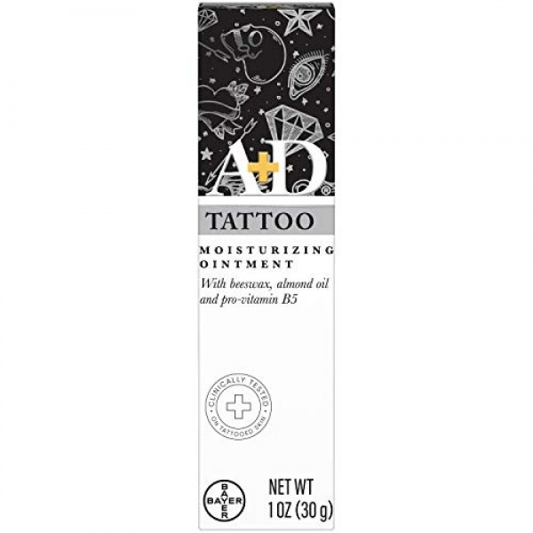 A+D Tattoo Moisturizing Ointment, Clinically Tested, Hypoallergen...