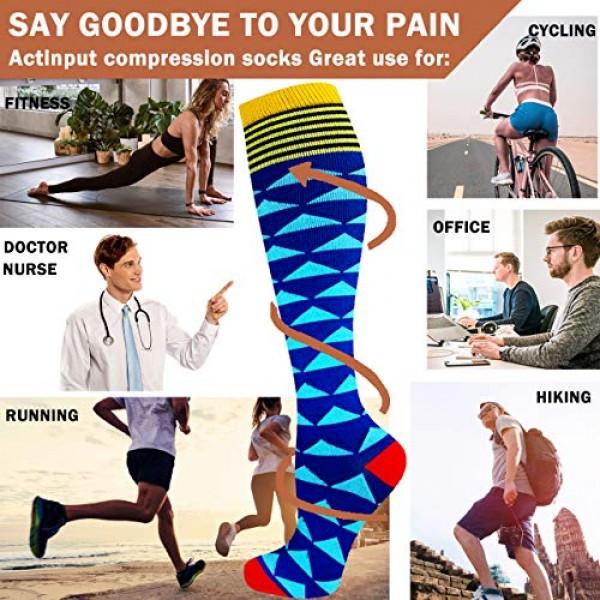 7 Pack Compression Socks Women & Men 20-30 mmHg , Best Athletic &...