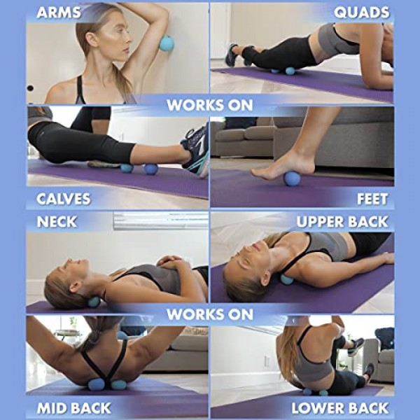 Acupoint Physical Massage Therapy Ball Set - Ideal for Yoga, Deep...