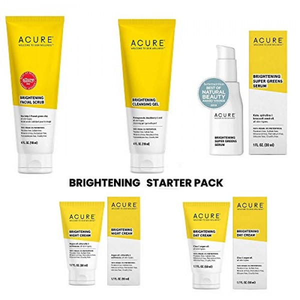 Acure Brightening Starter Kit - 100% Vegan & For A Brighter Appea...