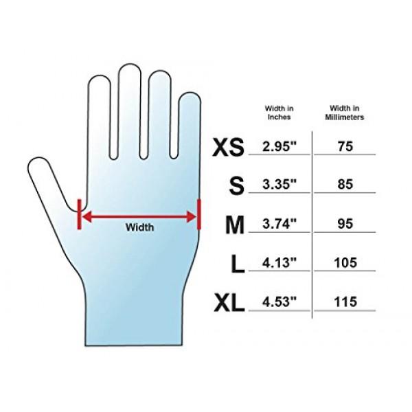 Adenna PHM916 Phantom 6 mil Latex Powder Free Exam Gloves Black,...