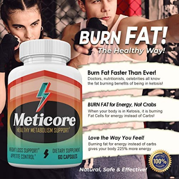 5 Pack Meticore Weight Loss Supplement Pills Metabolism Reviews...
