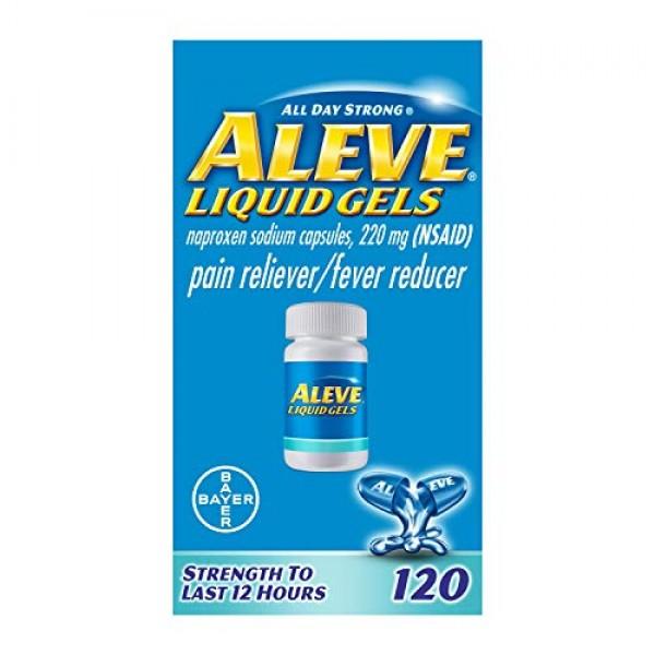 Aleve Liquid Capsules, Naproxen Sodium Capsules 220 mg NSAID, P...