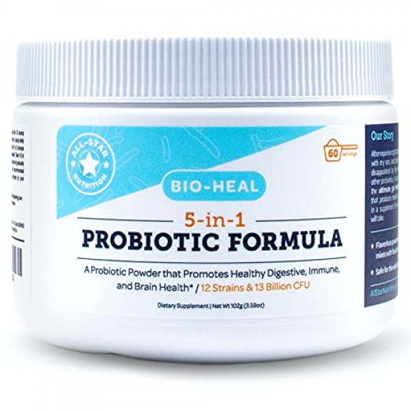 5-in-1 Bio-Heal Probiotic for Kids, Men & Women Powder - Best ...