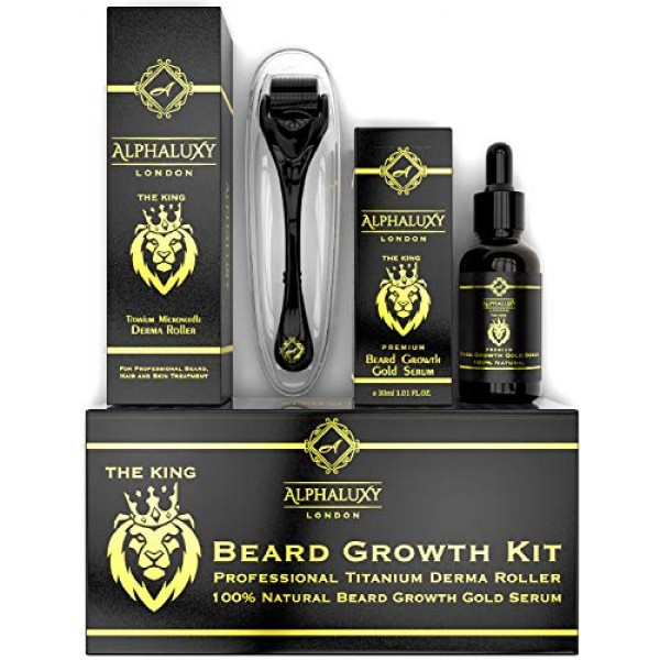 Beard Growth Kit - Derma Roller for Beard Growth 540 Needles + Fa...