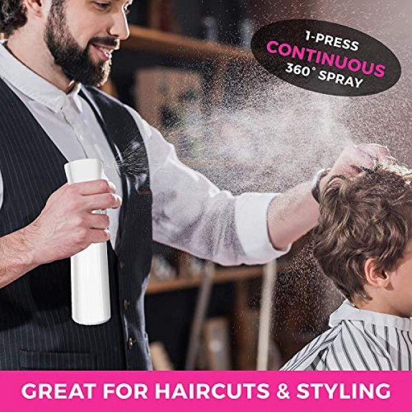Continuous Sprayer Hair Water Ultra Fine Mister Spray Bottle Prop...