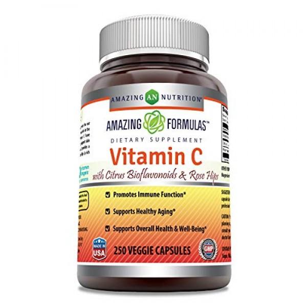 Amazing Formulas Vitamin C Ascorbic Acid - 1000mg with Rose Hip...