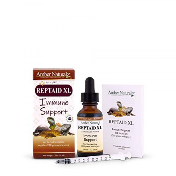 AMBER NATURALZ - REPTAID XL - Immune Support - for Reptiles 250g ...