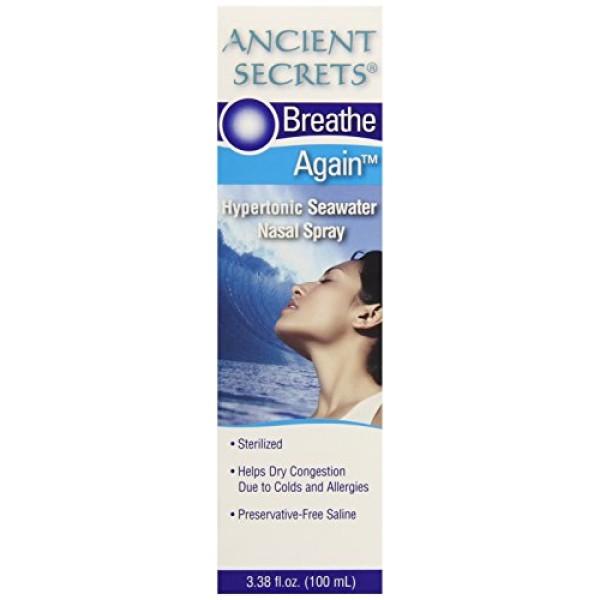 Ancient Secrets Breathe Again Adult Nasal Spray, 3.38 Fluid Ounce