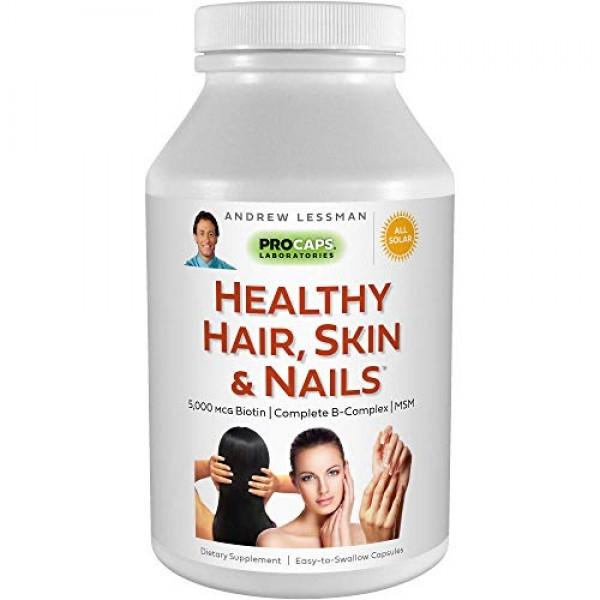 Andrew Lessman Healthy Hair, Skin & Nails 360 Capsules – 4000 mcg...