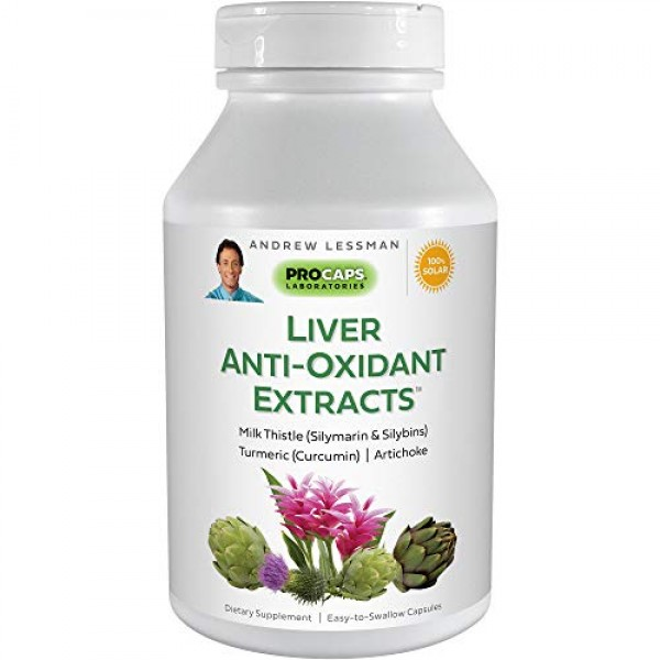 Andrew Lessman Liver Anti-Oxidant Extracts 120 Capsules – Support...