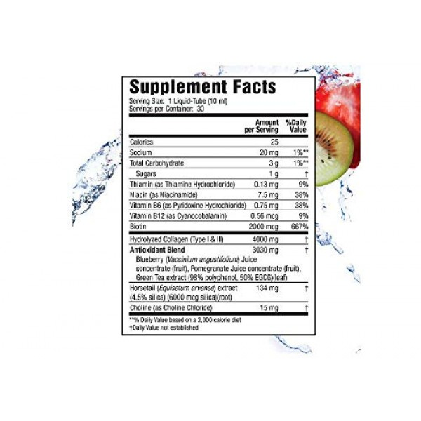Applied Nutrition Liquid Collagen Drink Mix 4000 mg, 30 Tubes