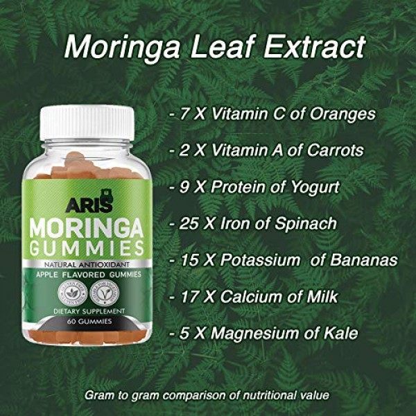 Aris Moringa Gummies from Miracle Tree Leaf, Rich in Vitamins and...