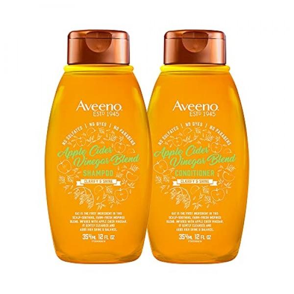 Aveeno Scalp Soothing Apple Cider Vinegar Blend Shampoo & Condit...