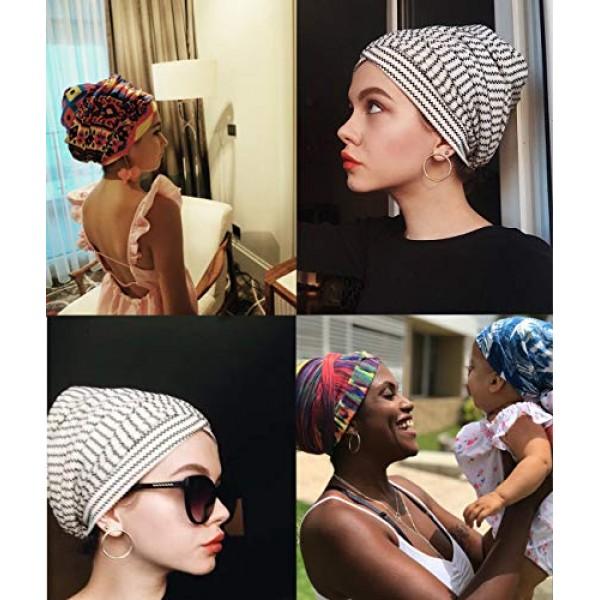 Easy Wearing African Head Wrap,Long Scarf Turban Shawl Hair Bohem...