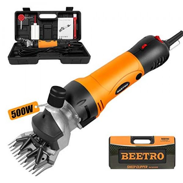 BEETRO 500W, Electric Professional Sheep Shears, Animal Grooming ...