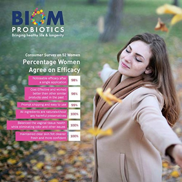 Biom Vaginal Probiotic Suppository: Natural Vaginal pH and Odor C...