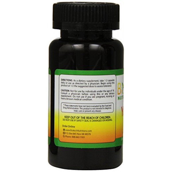 Biotech Nutritions Yohimbine HCl Dietary Supplement, 120 Count