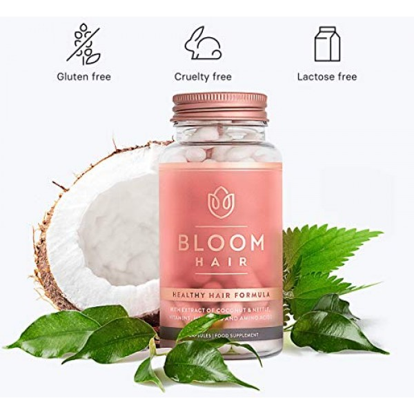 BLOOM HAIR Vitamins for Fast Hair Growth & Health with Biotin for...