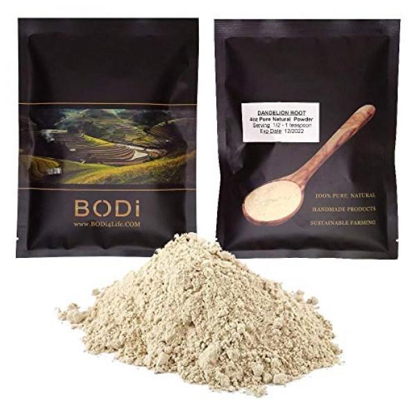 bodi : Dandelion Root Powder - 100% Pure Natural Chemical Free 4...