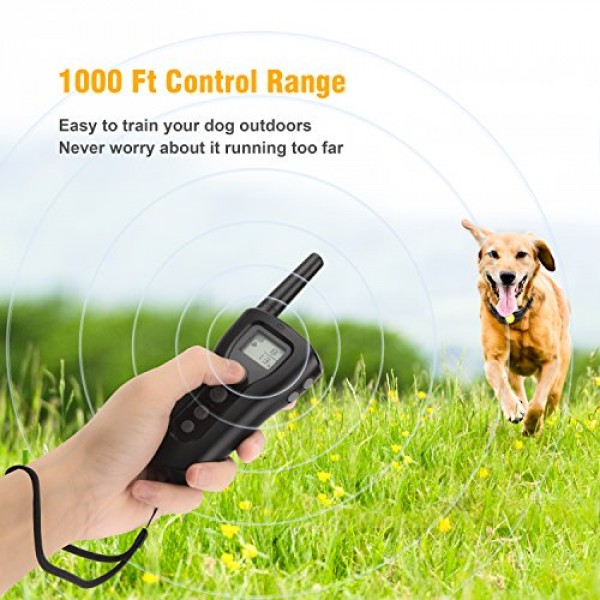 Bousnic Dog Training Collar 2 Dogs Upgraded 1000ft Remote Recharg...