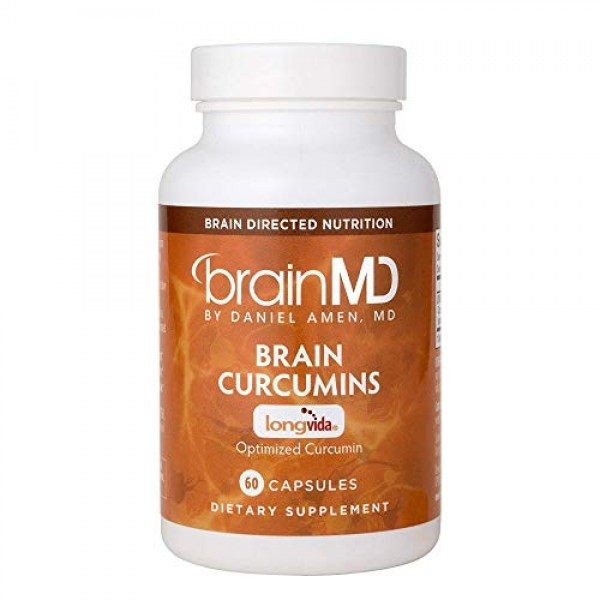 Dr. Amen brainMD Brain Curcumins - 500 mg, 60 Capsules - Memory &...