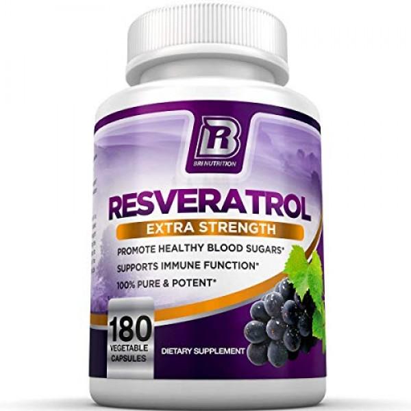 BRI Resveratrol - 1200mg Potent Trans-Resveratrol Natural Antioxi...