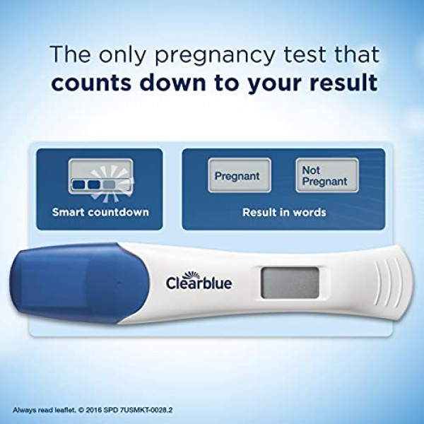Clearblue Digital Pregnancy Test with Smart Countdown, 5 count
