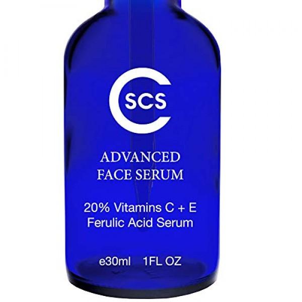 20% Vitamin C & E Ferulic Acid Serum for Face and Eyes - Rejuvena...