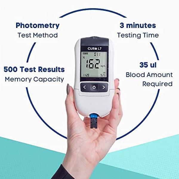 CURO-L7 Professional Grade Blood Cholesterol Test Home KIT All-i...