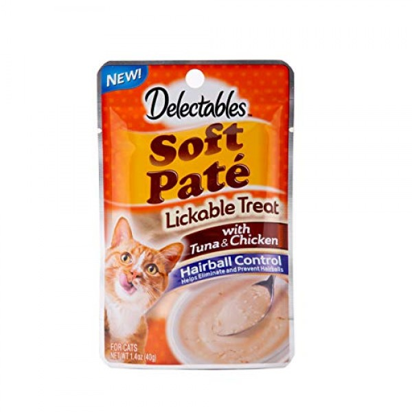Delectables Lickable Treat – Soft Pate Tuna & Chicken Hairball Co...