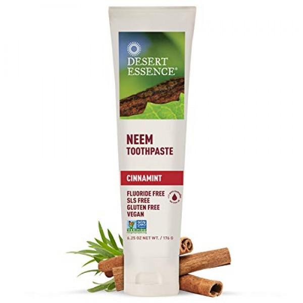 Desert Essence Natural Neem Toothpaste - Cinnamint - 6.25 Oz - Pu...