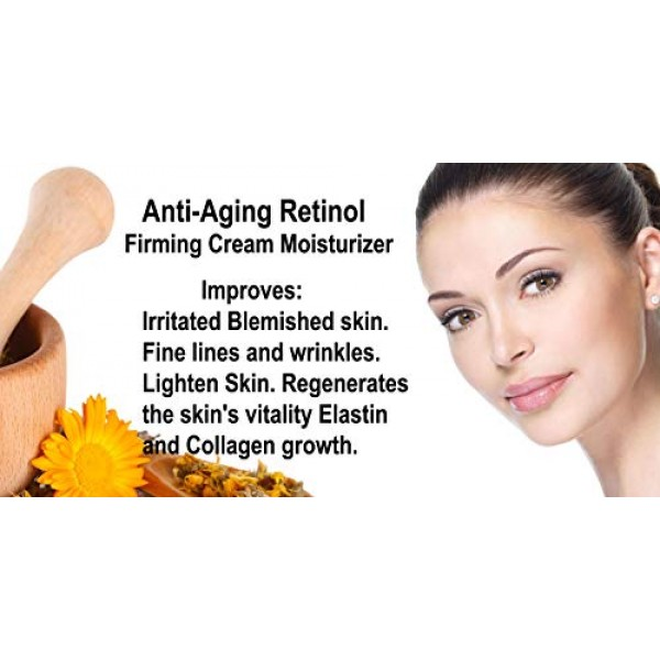 Anti-Aging Retinol Cream Moisturizer-Face & Eye Area-2.5% Retinol...