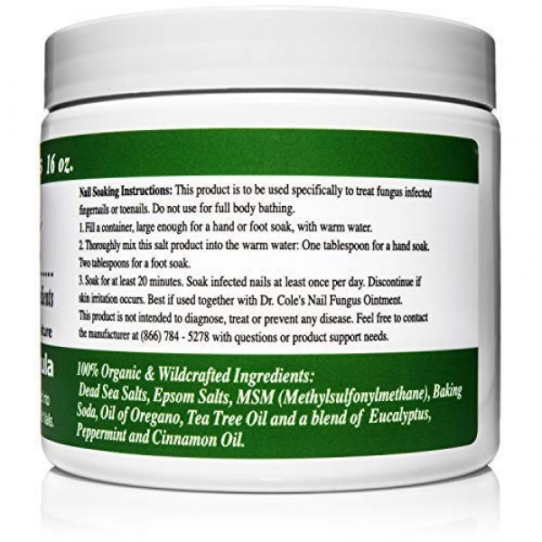 Dr. Coles Organic Anti-Fungal Hand & Foot Soaking Salts - Extra ...
