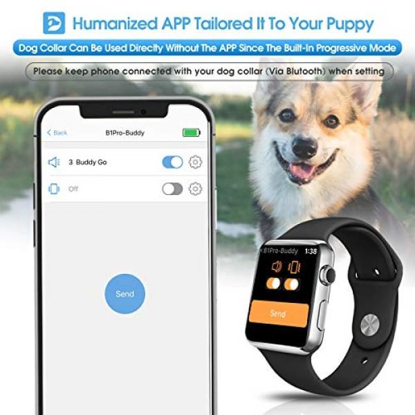 Dr.Trainer B1Pro Dog Bark Collar with APP & Watch Control, Anti B...
