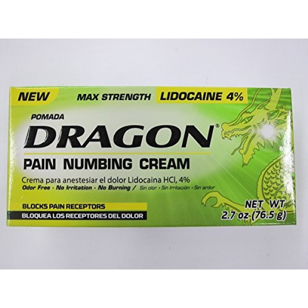 Dragon Pain Numbing Cream, Max Strength, 2.7 oz Pack of 2
