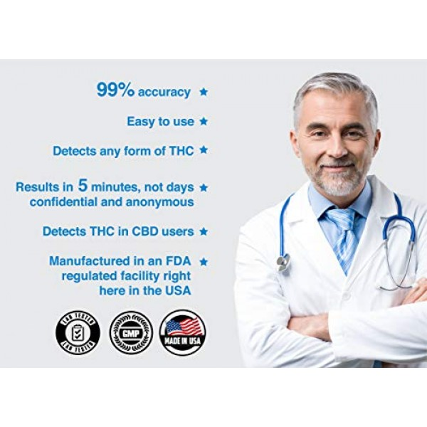 3 Pack - DrugExam Made in USA Most Sensitive Marijuana THC 15 ng/...
