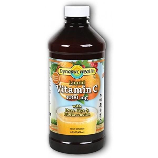 Dynamic Health Liquid Vitamin C 1000 mg, 16 Ounce
