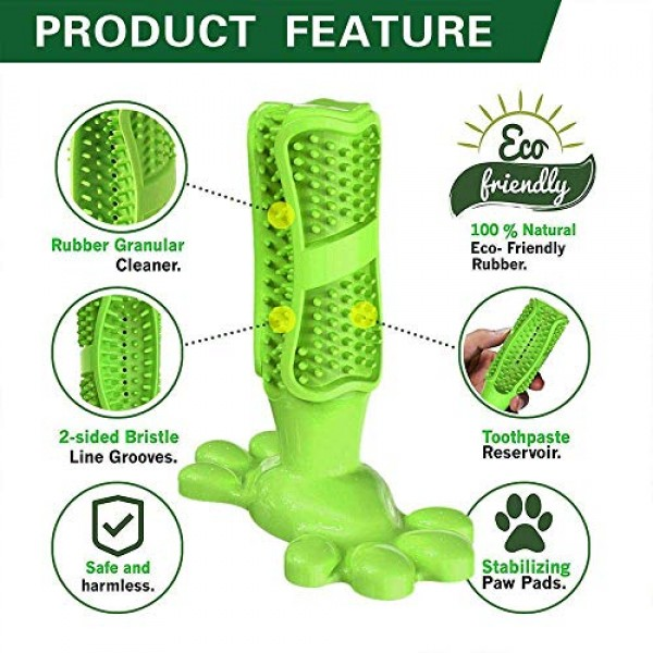 Erichome Dog Toothbrush Chew Toys - 2020 Upgraded Puppy Dog Teeth...