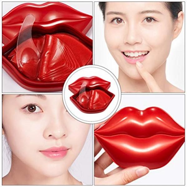20pcs Rose Lip Mask Moisturising Lip Pads Lip Sleeping Mask Gel C...
