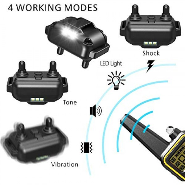 F-color Dog Training Collar, Rechargeable Waterproof Dog Shock Co...