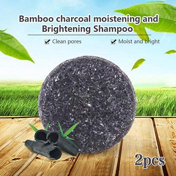 2pcs Hair Darkening Shampoo Bar - Naturally Restores Pigment Cell...
