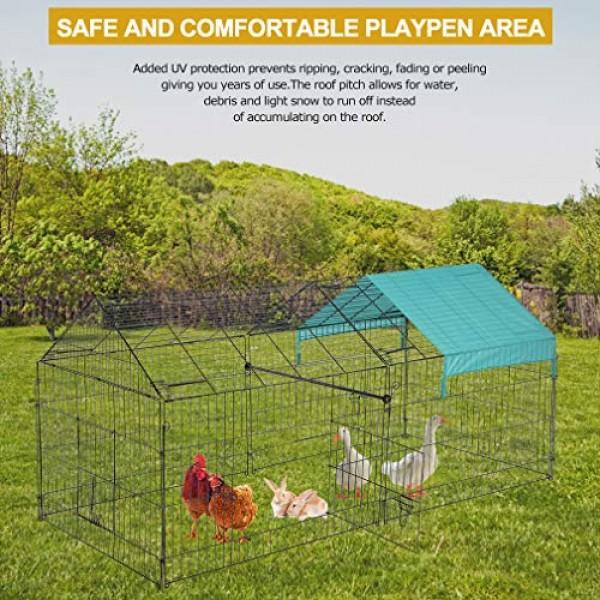 """FDW 86"""" x 40"""" Chicken Coop Chicken Cage Outdoor Metal Pet Enclosu..."""