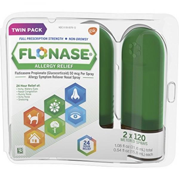 ---Flonase Allergy Relief Nasal Spray, 24 Hour Non Drowsy Allergy...