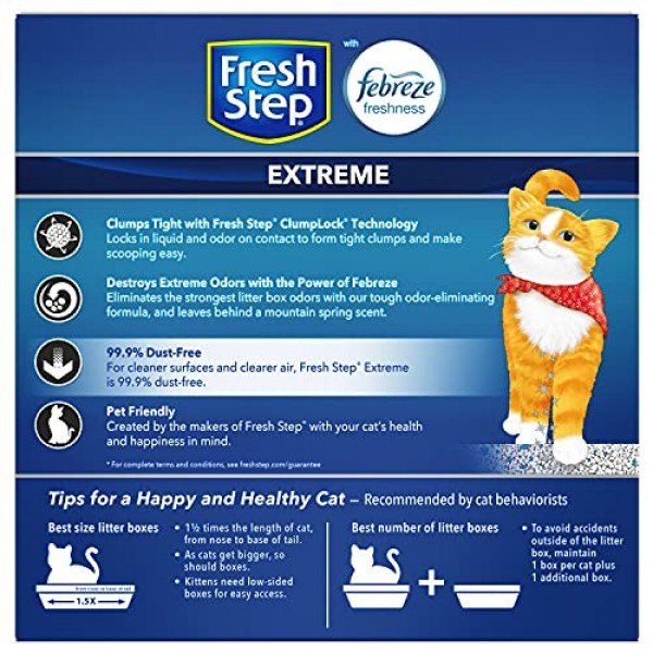 Fresh Step Extreme Scented Litter with the Power of Febreze, Clum...