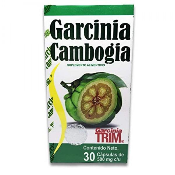 Garcinia Cambogia 30 Capsulas 500 Mg *Garcinia Trim* 100% Natural...